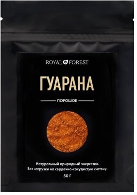 Гуарана, Royal Forest, Транскэроб, 50г