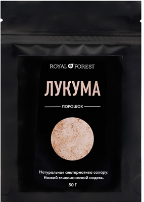 Лукума порошок Royal Forest, Транскэроб, 50 г