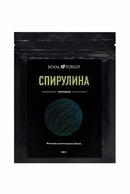 Спирулина порошок Royal Forest, Транскэроб, 100 г