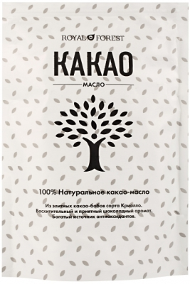 Какао масло натуральное, Royal Forest, Транскэроб, 200 г