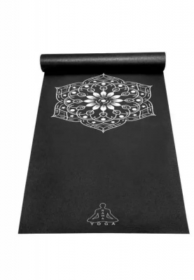 Коврик для йоги Mandala Black Germany, RamaYoga