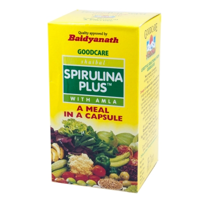CПИРУЛИНА ПЛЮС с Амлой (Spirulina Plus with amla), Goodcare Pharma, 60 капc.